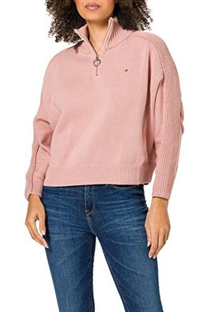 Tommy Hilfiger Dames Zip-up High-nk SWT Ls Sweater