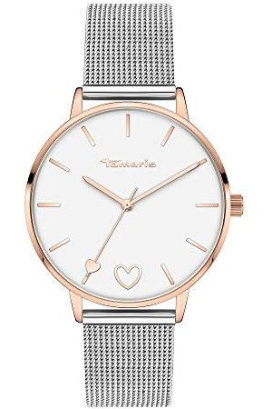 Tamaris Dames analoog kwarts horloge met roestvrij stalen armband TT-0011-MQ