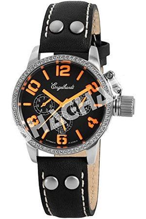 Engelhardt Dames analoog mechaniek horloge met lederen armband 387722219012