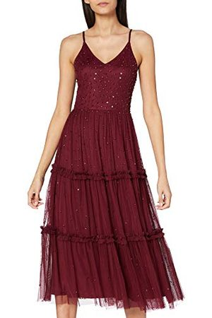 Frock and Frill Dames Pailletten Cami Midi Jurk Cocktail