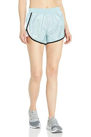 Under Armour Dames Fly By 2.0 Printed Running Short, Rift Blue (462)/Reflectieve, Large