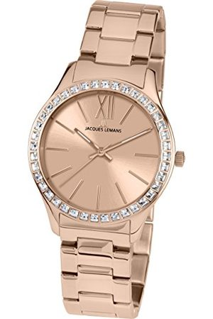 Jacques Lemans Dames analoog kwarts horloge met roestvrij staal gecoat armband 1-1841H