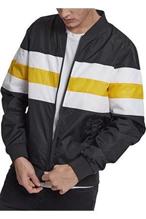 Urban classics Gestreepte nylon jas voor heren.
