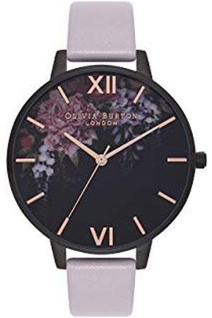 Olivia Burton Vrouwen analoog Japans Quartz horloge met lederen band OB16AD15, Kleur: Lila