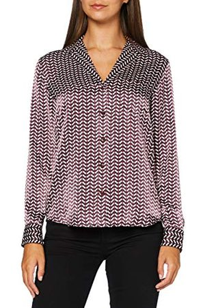 Seidensticker Zijdesticker dames reverskraag lange mouwen print blouse