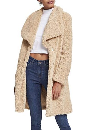 Urban classics Dames Ladies Soft Sherpa Coat Parka