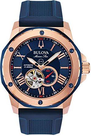 BULOVA Heren analoog automatisch horloge met siliconen armband 98A227