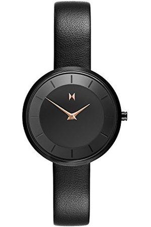 MVMT Dames analoog kwarts horloge met lederen armband D-FB01-BLBL