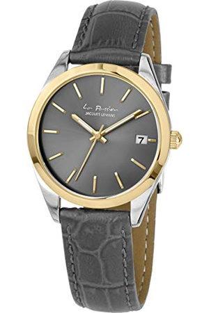 Jacques Lemans Dameshorloge La Passion lederen armband massief roestvrij staal ip-goud/bicolor LP-132C
