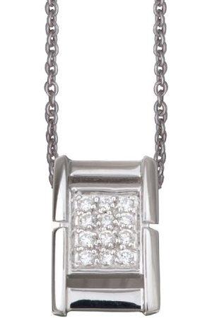 ORPHELIA Dames-hanger met ketting pav 925 sterling zilver met zirkonia 45cm ZH-4559