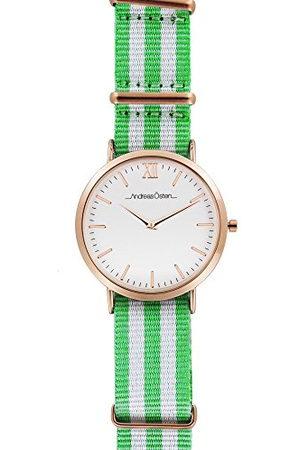 Andreas Osten Andreas Oosten, unisex analoog kwarts horloge met nylon armband AO-22