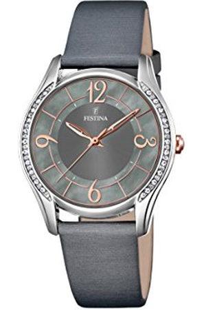 Festina Dames analoog kwarts horloge met lederen armband F16944/2