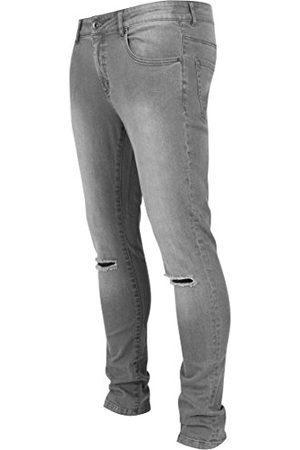 Urban classics Heren Fit Knee Cut Denim Pants Slim Jeans