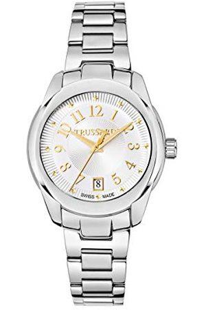 Trussardi Dames datum klassiek kwarts horloge met roestvrij stalen armband R2453100505