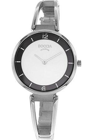 Boccia Dames analoog kwarts horloge met titanium armband 3260-01