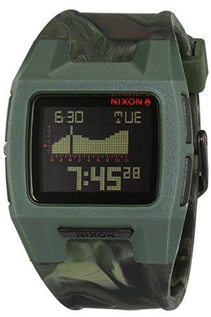 Nixon Dameshorloge Lodown silicone marbled camo digitaal kwarts siliconen A2811727-00