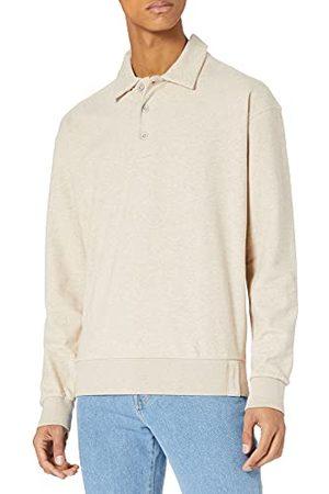 Scotch&Soda Heren structuurFelpa sweatshirt in half-ritssluiting polo styling sweatshirt