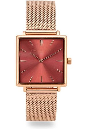 Elie Beaumont Analoog Japans Quartz Horloge voor dames met RVS Band EB818.7