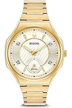 BULOVA Dames analoog quartz horloge met roestvrij stalen band 97P136