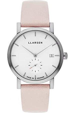 LLARSEN Dames analoog kwarts horloge met lederen armband 137SWS3-SPOWDER18