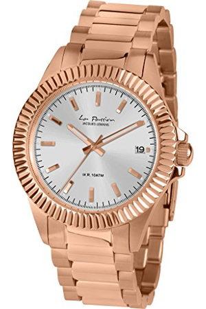 Jacques Lemans Dames datum klassiek kwarts horloge met roestvrij stalen armband LP-125T