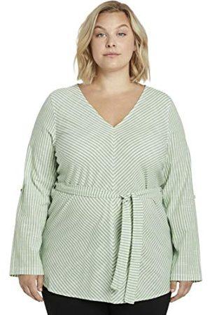 TOM TAILOR MY TRUE ME Plus Size Stripe blouse met ceintuur