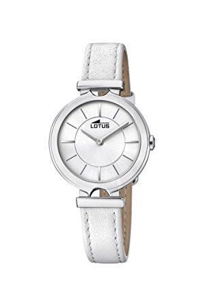 Lotus Womens analoge klassieke quartz horloge met lederen band 18451/1
