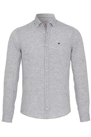 Pure Heren 3801-550 casual slim fit shirt met lange mouwen, effen lichtblauw, XL
