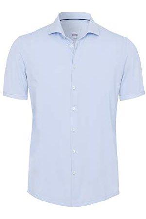 Pure Heren 4030-22750 Functioneel shirt met halfmouwen, Uni lichtblauw, 46