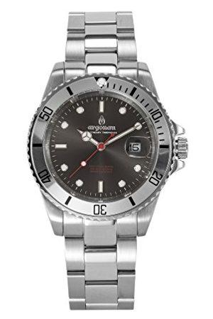 Argonau Unisex Adult Analoog Klassiek Quartz Horloge Met RVS Band Au2002