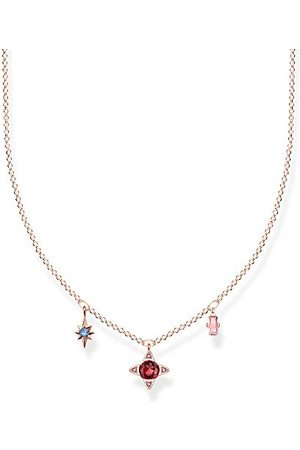 Thomas Sabo Damesketting geluksymbolen rosé 925 sterling zilver roségoud verguld KE1898-321-7-L40v