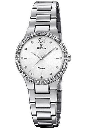 Festina Dames analoog kwarts horloge met roestvrij stalen armband F20240/1