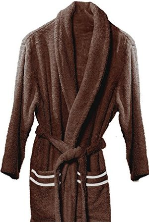 atenas home textile Altea/katoenen wikkeljurk badjas bad/maat M 320 g/m² 100% katoen, / , Marrón y , groot