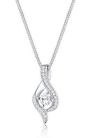 Elli Damesketting met hanger Infinity 925 zilver zirkonia rond geslepen zirkonia 45 cm - 0105620216_45