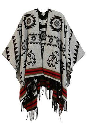 Desigual Vrouwen, poncho_freedom, omkeerbare pashmina shawl, , maat U