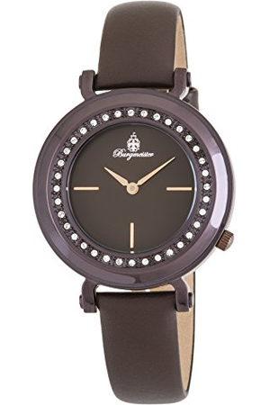 Burgmeister Dames analoog kwarts horloge met lederen armband BM809-095