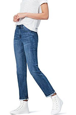 FIND Amazon-merk - vinden. Dames Straight Mid Rise Stretch Jeans, (midden wassen),36W / 32L