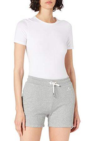 GANT Dames Lock UP Sweat Shorts, Grey Melange, L
