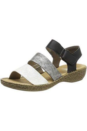 Rieker 658L8, dichte sandalen Dames 38 EU