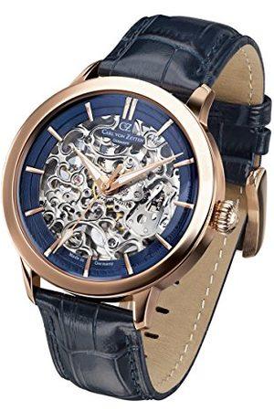 CARL VON ZEYTEN CVZ0013RBL Automatisch herenhorloge met lederen armband