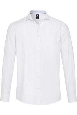 Pure Heren 4025-418 City Black lange mouwen klassiek overhemd, effen lichtblauw, S