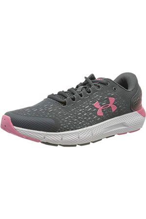 Under Armour Women's W Charged Rogue 2 Running Shoe, Pitch Gray White Slate Purple 106, 4.5 UK