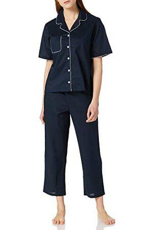 Seidensticker Zijdesticker dames popeline doorgeknopen pyjama lang pyjamaset