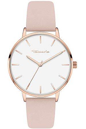 Tamaris Dames analoog kwarts horloge met lederen armband TT-0006-LQ