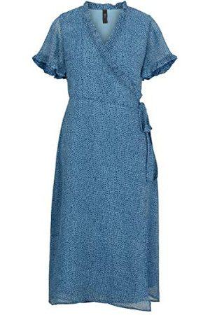 YAS Ditla Ss Wrap Midi Dress Ca - S. Jurk