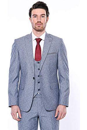 Wessi Slank pasvorm pakken met linnen touch-vest voor heren
