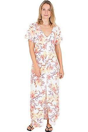 Hurley W Button Up Maxi Jurk Casual Vrouwen