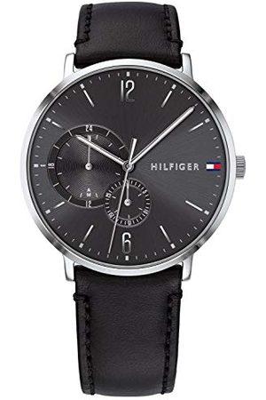Tommy Hilfiger Heren multiwijzerplaat kwarts horloge met lederen armband 1791509