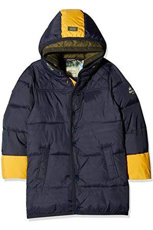 Scotch&Soda Gewatteerde jas voor jongens met contrasterende kleur pop-details in lange jas.