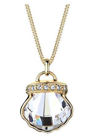 Elli Damen zilver, verguld Rundschliff kristal